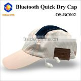 wholesale fashion bluetooth baseball hat bluetooth quick dry cap Nylon material