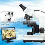 DN-107T Binocular Digital Microscope with Camera/resolution 1280*1024(1.3M pixel)/sliding binocular head/halogen lamp illuminat