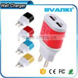 Top high quality Wholesale Dual Port DC wall charger 5V 2.1A travel charger 5 volt 2.1amp micro usb charger online shopping