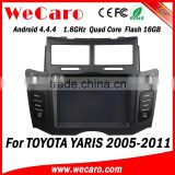 Wecaro WC-TY6221 Android 4.4.4 car stereo 2 din touch screen dvd for toyota yaris radio gps bluetooth 2005 -2011