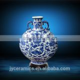 Wedding Decoration Ceramic Flower Vase Classical Blue and White Antique Porcelain Vase Jar