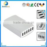 Most Powerful Smart 60W 6 Port 12A Multi USB Charger with USB Cable Family Size for iPhone