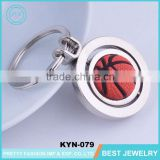 Souvenir 3D Holder Basketball Shape Key Chains/Soft Metal Key Chain
