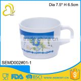 high print simple design plastic tablewarwe melamine coffee mug                                                                                                         Supplier's Choice