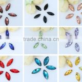 AAA Quality Colorful Wholesales Point Back Loose Horse Shapes Crystal Glass Beads for Jewelry Cloth Phone Decorating Cheap