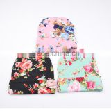 Hot-sales cotton Baby Hat Girl Boy Cap floral Beanie Infant Cotton knitted toddlers New Children floral hat FH-194