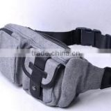 New Fashion Multi-functional Sports Bag 6 Zipper Pockets Waist Bag Fanny Chest Pack with Small Personal Stuffs