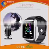 Alibaba china newly design comparison smart watches A1 with free cellphone holder