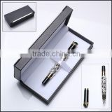 Together Silver artwork fountain pen package in Plastic box for corporate gift set                                                                         Quality Choice