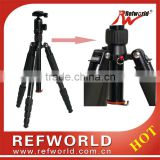 "Interchangable between 1/4"" and 3/8"" screw T-2525 camera tripod kit with ball head"