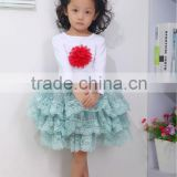 wholesale alibaba baby clothes top and children tulle skirt