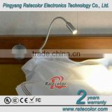 2014 The best Aluminum LED headboard reading lamp for Hotel/ school/ children Bed with toggle switch