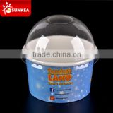 Custom printed disposable paper icecream cup clear lid
