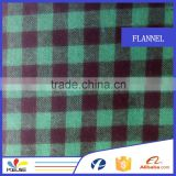 plaid brushed fabric wholesale cotton flannel shirt fabric