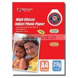 professional photography RC inkjet Glossy photo paper & Printing Consumables(180,210,240,260gsm, dye&pigment ink, rc base)