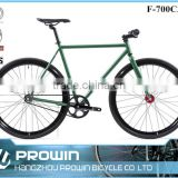 2016 green straight bar 700c fixed gear bike/fixie bike frame/vintage bikes for sale (PW-F700C359)