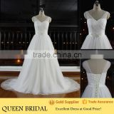 Real Works Crystal Belt Ball Gown Cheap Wedding Dresses 2015                                                                         Quality Choice