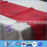 Many colors Factory wholesale jacquard Brocade fabric home decoration laser cutting Table Runner