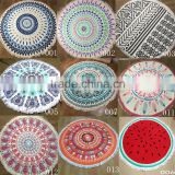 2016 new product hot selling cotton round beach towels mandala with tassels                                                                                                         Supplier's Choice