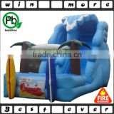 hot fun animal toy big inflatable water slide with pool prices, cheap used kids and adults water park for sale