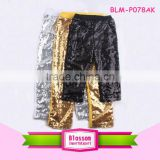 Fashion design baby girls shiny sequin pants, new autumn sequin pants for kids