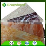 marble/brushed copper/simple color acm building construction materials facade