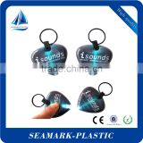 2016 cheap custom made pvc key holder with led light for prmotion