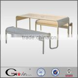 Durable galvanized & powder coated steel picnic table and bench,wholesale picnic table Guangzhou manufacturer