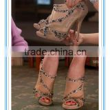 Latest Style Nude Peep Toe High Heel Shoe Bridal Shoes(WS-5002)