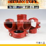 FM UL Approved Fire Protection Sprinkler System Grooved End Pipe Fittings