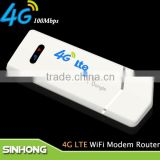 100M Data Transmission Rate Universal Unlocked LTE 4G USB SIM Card Modem