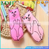 3D Soft Silicon Cat Case For Iphone 6 6s 6Plus 6S Plus 5G SE 5S Cartoon Animals Rubber Middle Finger Cover For iphone6 Case Capa