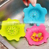 New Flower Silicone Bath Kitchen Waste Sink Strainer Filter Net Drain Catcher,Drain Cover Rubber Stopper
