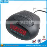 AM/FM Kitchen Clock Radio power operated alarm clock radio with frequency display (F-1751)