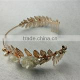 American handmade ceramic flower hair hoop pearl headband wedding banquet necessary fresh hairbands hair accessories FHHBC4002