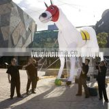 Giant Inflatable Clear Horse for Advertising Decoration