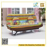 Modern living room furniture convertible fabric sofa bed with throw pillows