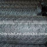 Galvanized hexagonal wire netting gabion box