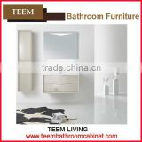 2016 new design Chinese factory bathroom vanity modern style contemporary white lacquer mirrored bathroom cabinet