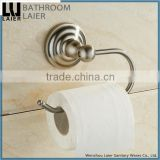 Sleek Understated Design Zinc Alloy Brush Nicked Bathroom Sanitary Items Wall Mounted Toilet Paper Holder