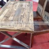 Victoriya DINING Table, Industrial Furniture steel base DINING Table with Reclaimed dining