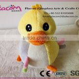 2016 New design lovely safe and comfortable baby plush toy Duck with music