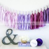 NEW Tassel Garland Banner Paper Tassel Garland purple ombre Wedding Decor, Birthday Party, Photo Backdrop, Baby Shower