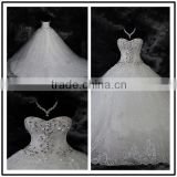 2015 Sweetheart Strapless Crystal Custom Made Long Formal Bridal Design Robe De Mariee HS278 factory bling wedding dresses