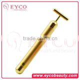 Personal vibrating facial Massagers skin care 24K Gold Beauty Bar beauty bar for skin care