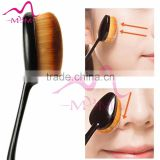 Oval cosmetic foundation cream powder makeup brush