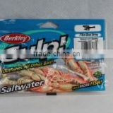 100% natural Berkley Gulp saltwater natural with sparkle ghost shrimp fishing lure