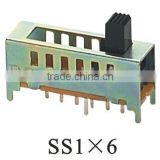 SS1x6 1P6T slide switch
