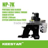 Single needle NP-7K keestar portable bag closer sewing machine