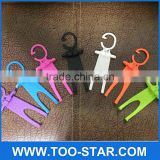 Flexible Silicone Mobile Hook Multifunction Human Shape Hanger Anti-slip Cell Phone Holder
